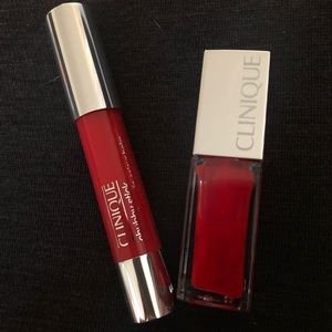 Clinique pop oil and chubby stick duo! *NIB*
